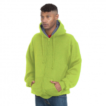 Bayside Super Heavy 17 oz. Thermal Lined Hooded Full Zipper Fleece