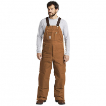 Carhartt Duck Zip-to-Thigh Bib Overall-Quilt Lined