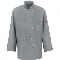 Chef Designs Women's Ten Button Chef Coat with Mimix™ And Oilblok