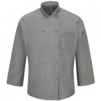 Chef Designs Men's Ten Button Chef Coat with Mimix™ And Oilblok