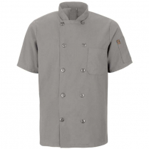Chef Design Men's Mimix™ Short Sleeve 10 Button Chef Coat with OilBlok