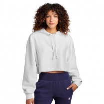 Champion ® Women's Reverse Weave ® Cropped Cut-Off Hooded Sweatshirt