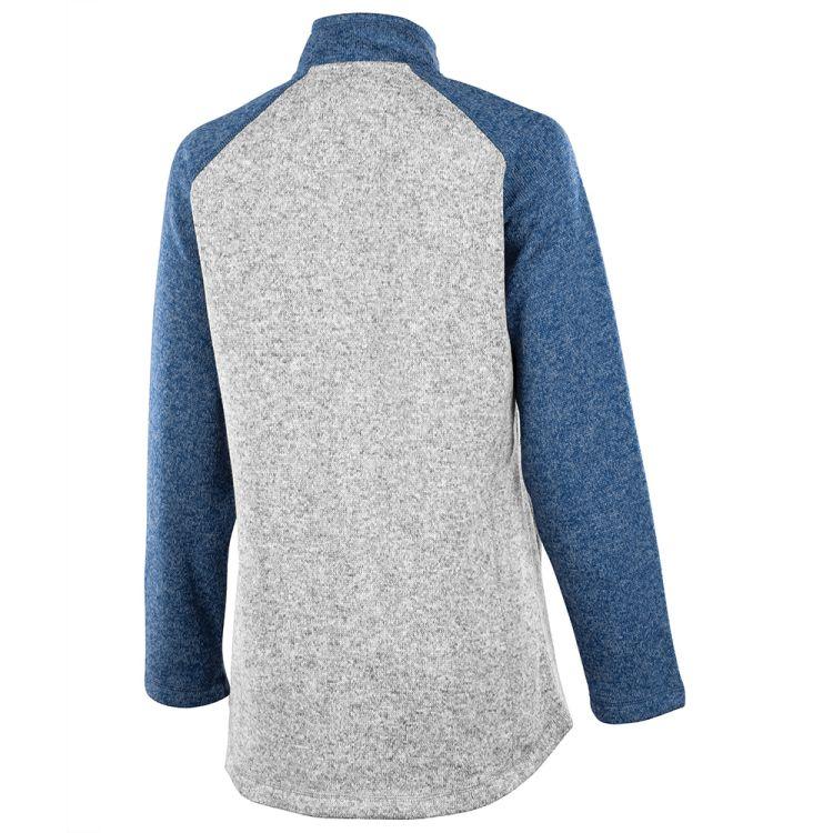 Charles River Women's Quarter Zip Color Blocked Heathered Fleece