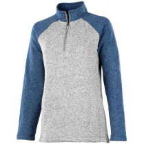 Charles River Women's Quarter Zip Color Blocked Heathered Fleece