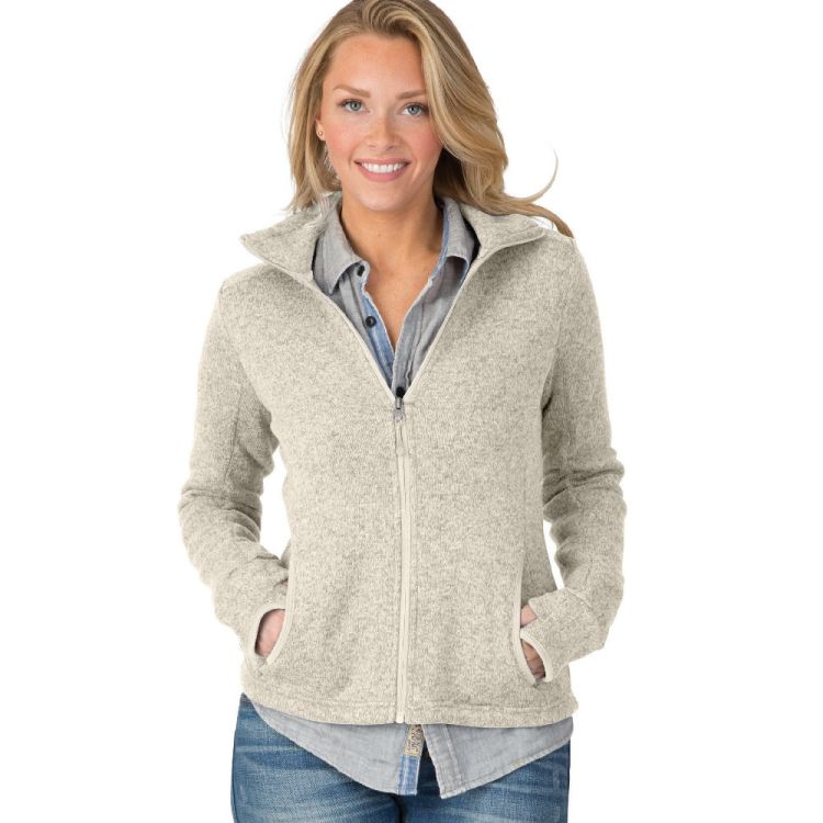 Charles River Women's Heathered Fleece Jacket