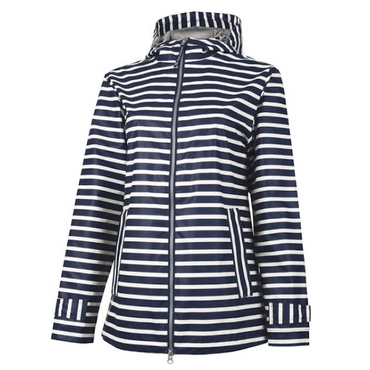 Charles River Women's New Englander Striped Rain Jacket