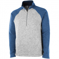 Charles River Men's Quarter Zip Color Blocked Heathered Fleece