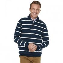 Charles River Crosswind Quarter Zip Print Sweatshirt