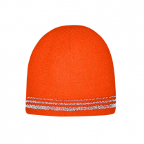 CornerStone® Lined Enhanced Visibility with Reflective Stripes Beanie