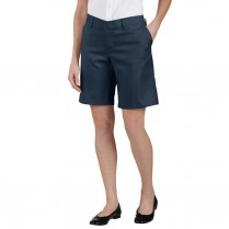 "Dickies Women's Relaxed Fit 9"" Flat Front Short"