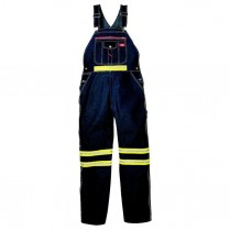 Dickies Enhanced Visibility Non-ANSI Bib Overall w/ Yellow Tape