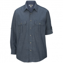 Edwards Men's Long Sleeve Chambray Roll-Up Shirt