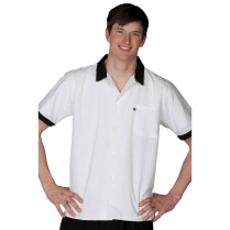 Edwards Button Front Sh Slv Cook/Utility Shirt with Contrasting Trim