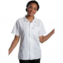 Edwards Button Front Short Sleeve Mesh Back Cook Shirt