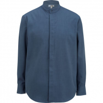 Edwards Men's Long Sleeve Batiste Banded Collar Shirt