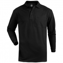 Edwards Unisex Soft Touch Long Sleeve Blended Pique Polo with Pocket