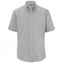 Edwards Men's Pinpoint Oxford Button Down Collar Short Sleeve Shirt