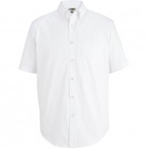Edwards Men's Short Sleeve Wrinkle Free Pinpoint Oxford Shirt