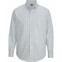 Edwards Men's Tattersall Poplin Long Sleeve Shirt