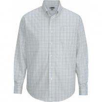 Edwards Men's Tattersall Poplin Long Sleeve Shirt