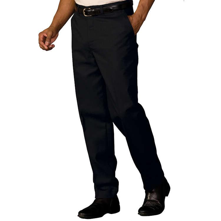 BLACK Edwards Garment Mens Casual Chino Flat Front Dress Pant UR