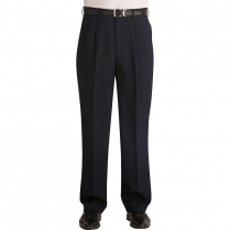 Edwards Men's Polyester Pleated Front Pant