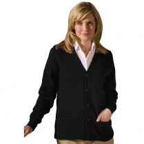 Edwards Tuff-Pil Plus Button Front V-Neck Cardigan with Pockets