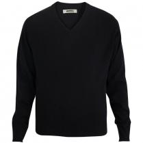 Edwards Unisex V-Neck Acrylic Interlock Long Sleeve Sweater