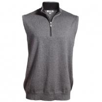 Edwards Quarter-Zip Fine Gauge Vest with Contrasting Collar