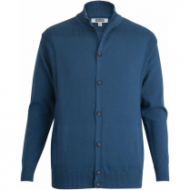Edwards Unisex Rib Collar Button-Front Cardigan With Pockets