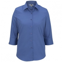 CLEARANCE Edwards Women's 3/4 Sleeve Soft Collar Poplin Shirt