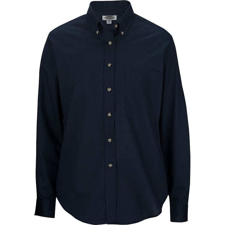 Edwards Mens Easy Care Long Sleeve Poplin Shirt