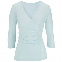CLEARANCE Edwards Women's V-Neck 3/4 Sleeve Crossover Knit Top