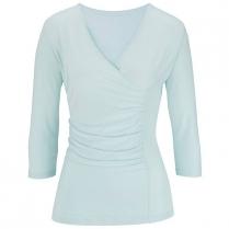 Edwards Women's V-Neck 3/4 Sleeve Crossover Knit Top