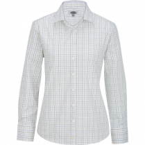 Edwards Ladies' Tattersall Poplin Long Sleeve Shirt