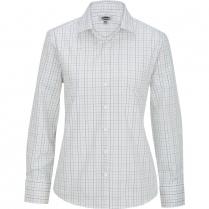 Edwards Ladies' Tattersall Poplin Long Sleeve Shirt