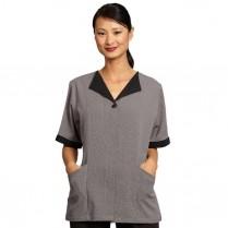 Fashion Seal Ladies' Microcheck Tunic with Black Trim