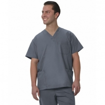Fashion Seal Unisex V-Neck 3-Pocket Scrub Shirt - Simply Soft