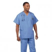Fashion Seal Unisex V-Neck 3-Pocket Scrub Shirt - Fashion Poplin