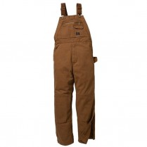 Key Premium Unlined Duck Bib Overall, Knee Zip
