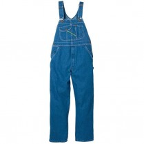 Key High Back Bib Overall-Zip Fly-Stonewashed