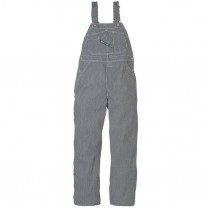 Key Hickory Stripe High Back Bib Overall-Zip Fly