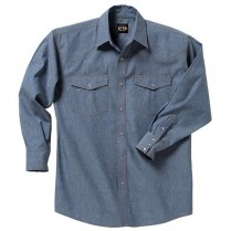 Key Pre-Washed Chambray Western Shirt, Long Sleeve
