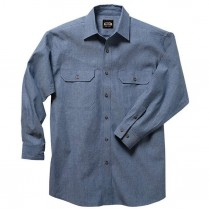 Key Pre-Washed Chambray Work Shirt, Long Sleeve