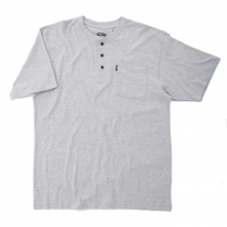 Key Heavyweight 3- Button Henley Pocket T-Shirt, Short Sleeve
