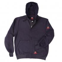 Key FR Unlined Hooded Zip Front Sweatshirt