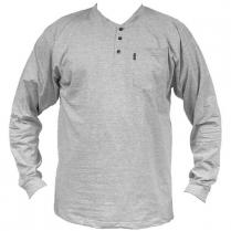 Key Heavyweight 3-Button Henley Pocket T-Shirt, Long Sleeve