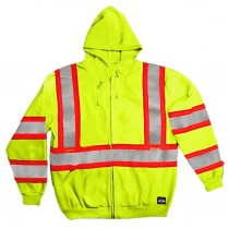 Key ANSI II Class 3 High-Vis Hooded Sweatshirt