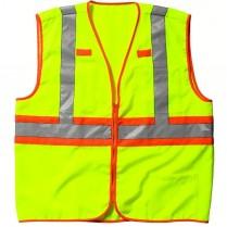 Key ANSI II Class 2 Hi-Visibility Solid Vest, Zipper Front