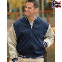 King Louie Fenway Poplin Baseball Jacket